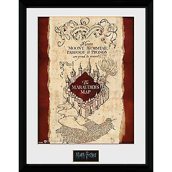 Harry Potter Marauders karta inramade Collector Print