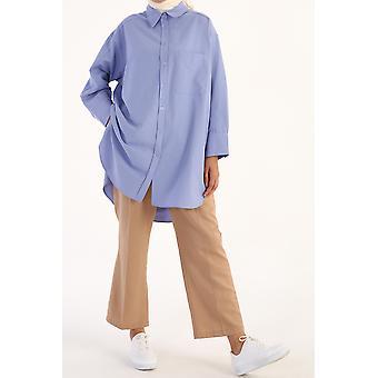 كبير الحجم واحد جيب القميص الأمامي تونيك