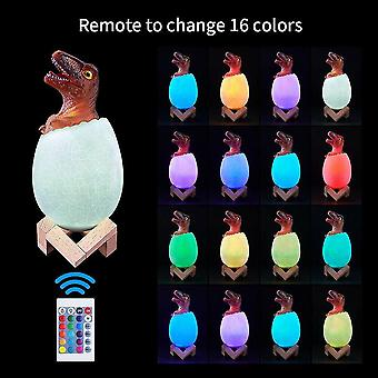 Robotic toys velociraptor dinosaur egg led night lights 16 colors table lamp