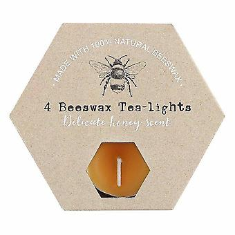 Candles set of 4 beeswax tealights