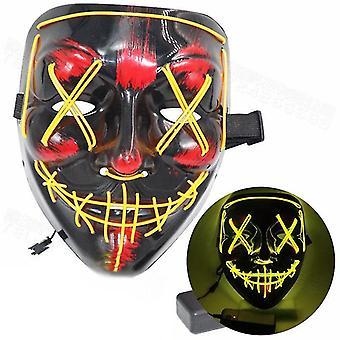 Sting Scary Led Mask Halloween Cosplay Kostume Mask Light Up Festival Party
