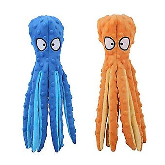 Dog Squeaky Toy Octopus-non-stuffed, Wrinkle-free Plush Dog Toy For Puppy Teething, Durable Interactive Dog Chew Toy, 4-piece Pack