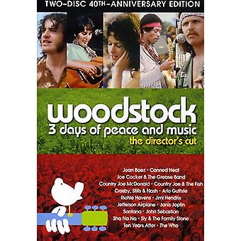 Woodstock 3 Days of Peace & Music [DVD] USA import