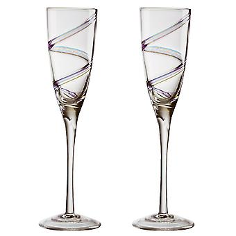 Anton Studio Arc Champagne flöjter, uppsättning av 2