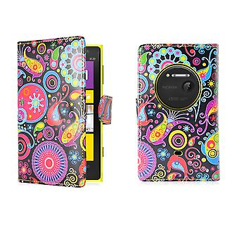 Design book PU leather case cover for Nokia Lumia 1020 - Jellyfish