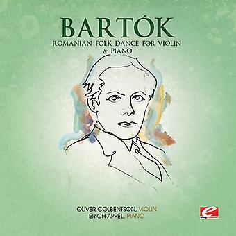 B. Bartok - Romanian kansantanssi Viulu & Piano [CD] Yhdysvallat tuontia varten