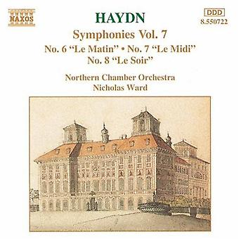 J. Haydn - Haydn: Symphonien Nr. 6 Le Matin, Nr. 7 Le Midi, Nr. 8 Le Soir [CD] USA import