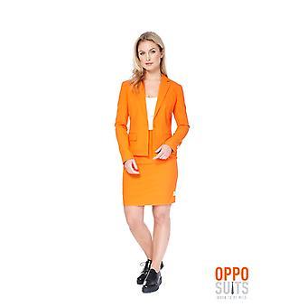 Foxy Miss Orange ladies costume Opposuit Slimline 2 premium EU SIZES