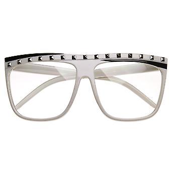 Знаменитости вдохновил шипованных партии рок Неон прозрачные линзы плоский топ солнцезащитные очки