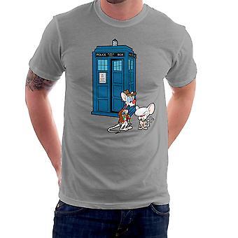 Pinky i mózg Doctor Who Tardis Classic Men's T-Shirt