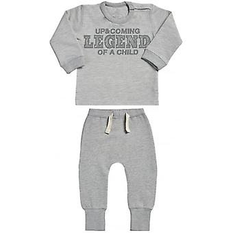 Spoilt Rotten Upcoming Legend Sweatshirt & Joggers Baby Outfit Set