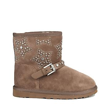 Ash Footwear Kids' Yoyo Taupe Fleece Lined Studded Boot