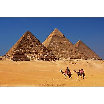 Pyramids of Giza Egypt Poster Poster Print