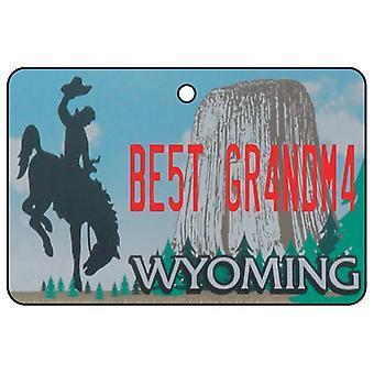 Wyoming - Best Grandma License Plate Car Air Freshener