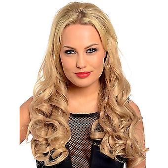 إيفا طويلة فضفاضة تجعيد الشعر شعر مستعار نصف الرأس