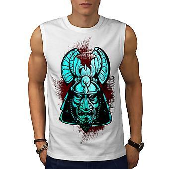 Fantasy Katana Warrior Men WhiteSleeveless T-shirt | Wellcoda