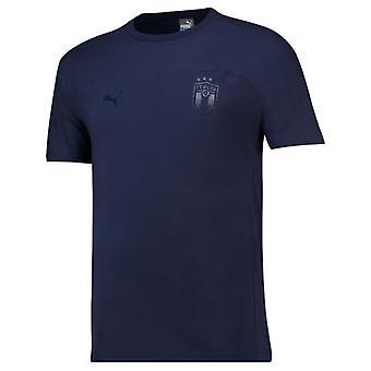 2018-2019 Italia Puma Azzurri Tee (Peacot)