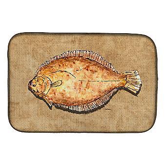 Carolines Treasures  8821DDM Flounder Dish Drying Mat