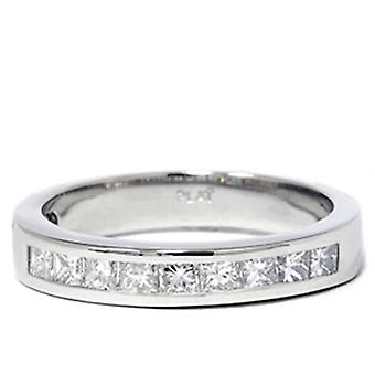 950 platin 5 / 8ct prinsesse Cut diamant vielsesring