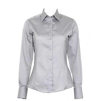 Kustom Kit Womens  Contrast Premium Oxford Shirt Long Sleeve