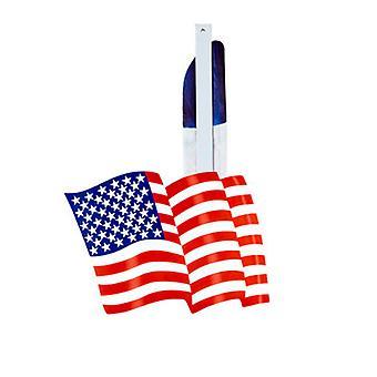 Blauer USA Flagge Papierfächer 50cm