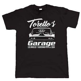 Toretto's Garage, Mens Muscle Car T Shirt - Gift Him Dad Hemi Dodge Drag Racing