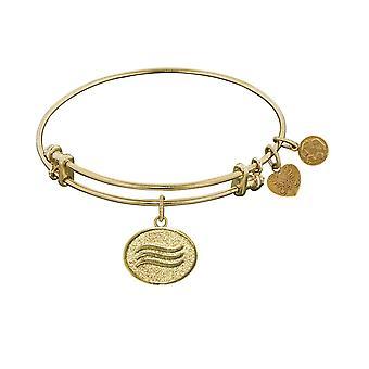 Stipple Finish Brass Air Angelica Bangle Bracelet, 7.25