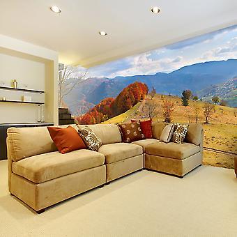 Wallpaper - Autumn landscape in the Carpathian mountains