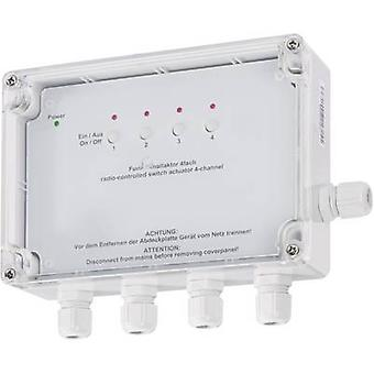 Homematic 76796A0 HM-LC-Sw4-SM-2 Wireless switch 4-channel Surface-mount 1380 W