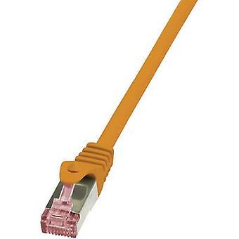 LogiLink RJ45 شبكات كابل CAT 6 S/FTP 1.00 م أورانج مثبطات اللهب، بما في ذلك.