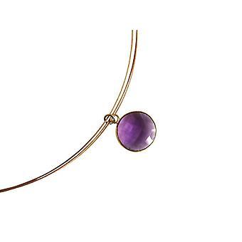 Amethystkette Edelstein Kette Amethyst Halskette vergoldet Juwelierdrahtkette
