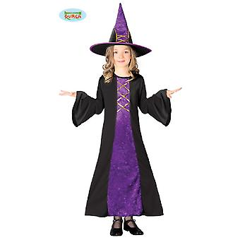 Guirca purple child witch Hat Halloween costume witch costume Velvet
