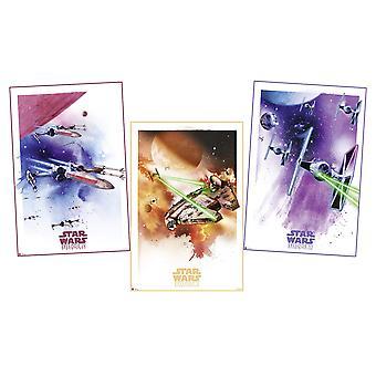 Star Wars Episodi IV - VI juliste asettaa Star Wars avaruusaluksia