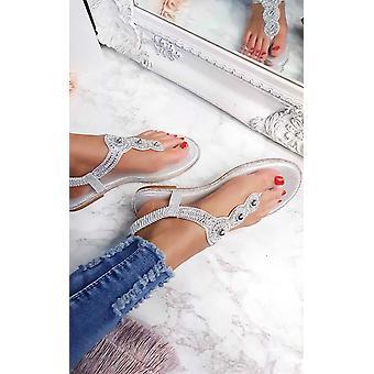 IKRUSH Womens Amerie Diamante Embellished Sandals
