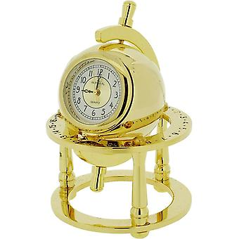 Gift Time Products Library Globe Miniature Clock - Gold