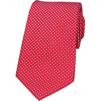 David Van Hagen Pin Dot gravata de seda - vermelho
