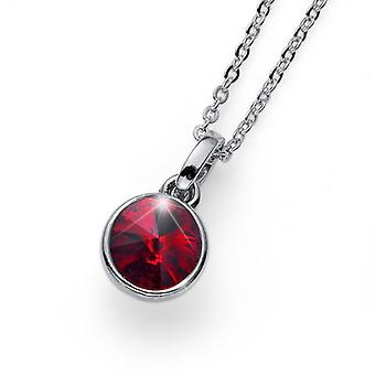 Pendant Young rhod. crystal