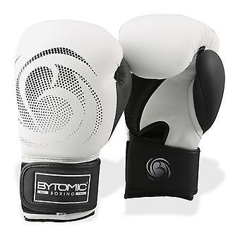 Luvas de boxe de couro legado bytomic branco/preto