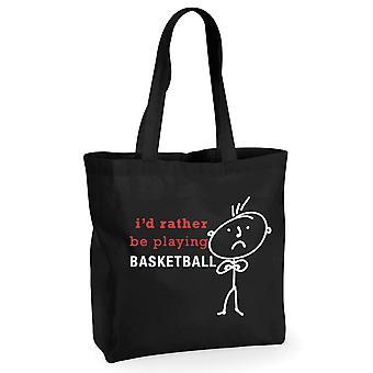 Mens אני ' די לשחק כדורסל שחור קניות כותנה שקית