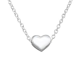 Heart - 925 Sterling Silver Plain Necklaces - W17452x