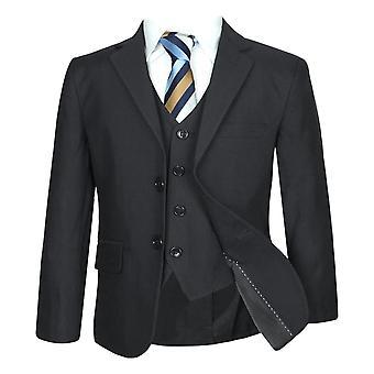 Boys Formal Black Suit Sets