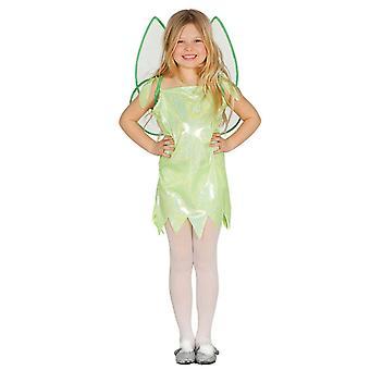Girls Green Glitter Fairy Fancy Dress Costume