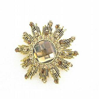 Topaz Lite Broche Colorado fumé Sparkling Broche Or Antique