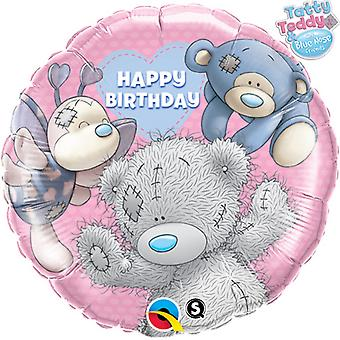 Qualatex Me To You 18 Inch Round Tatty Teddy & Blue Nose Friends Foil Balloon