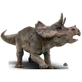 Découpe de carton officiel monde Jurassique Triceratops bébé / voyageur debout