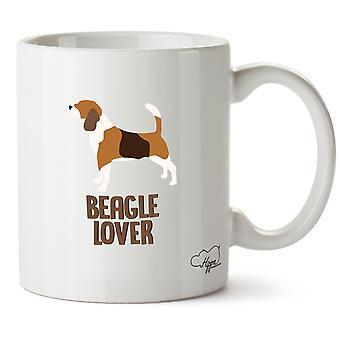 Kochanka Hippowarehouse Beagle Wydrukowano Kubek Kubek ceramiczny 10oz