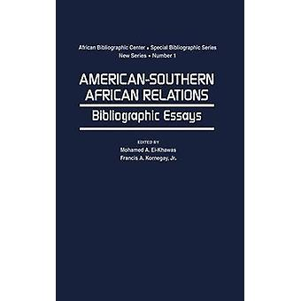 AmericanSouthern Relations interafricaines essais bibliographiques par ElKhawas & Mohamed A.