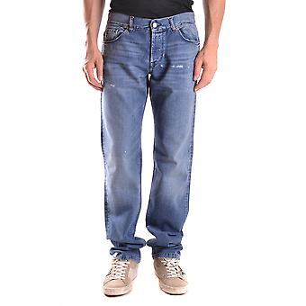 John Richmond Ezbc082040 Men's Blue Cotton Jeans