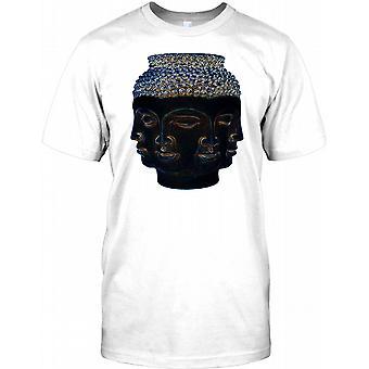 3 ledes Buddha ansigt - Meditation Herre T-shirt
