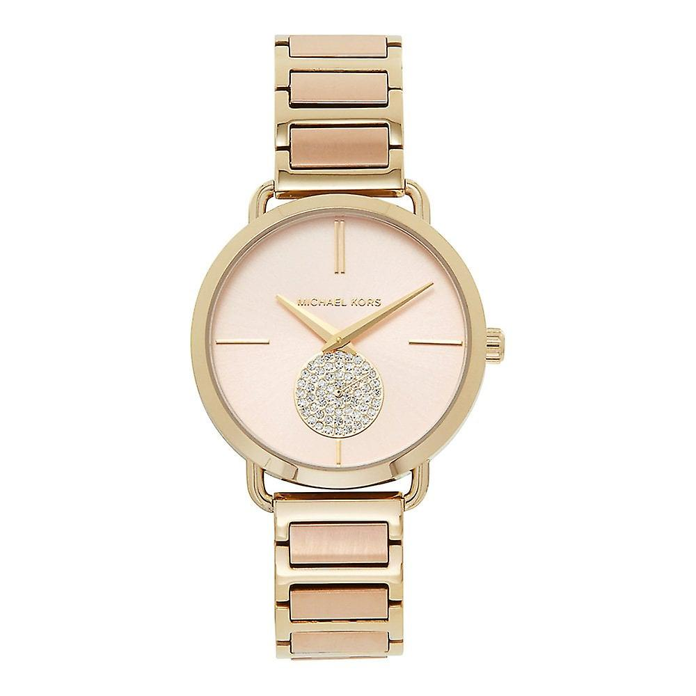 Michael Kors Watches Mk3706 Portia Gold & Rose Gold Stainless Steel Ladies Watch